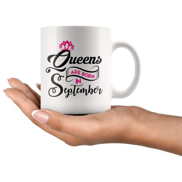 Queens are Born in September White Mug - TheGivenGet