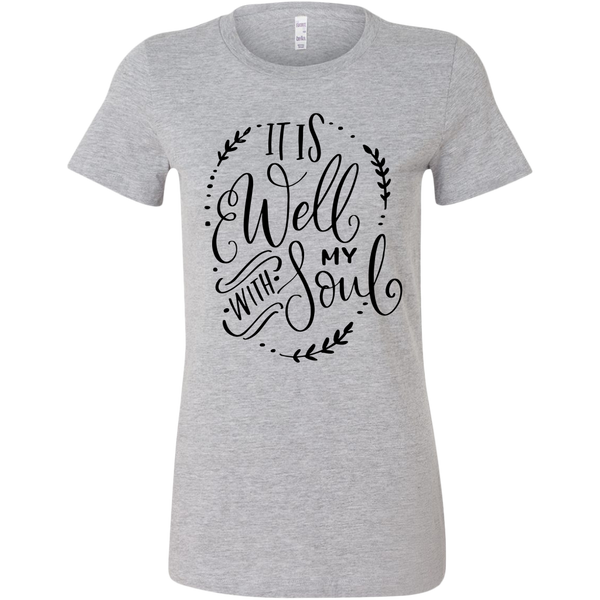 It Is Well With My Soul Black Print Christian T-Shirt - TheGivenGet