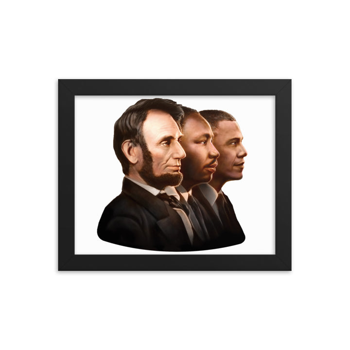 Triple Threat Framed Poster