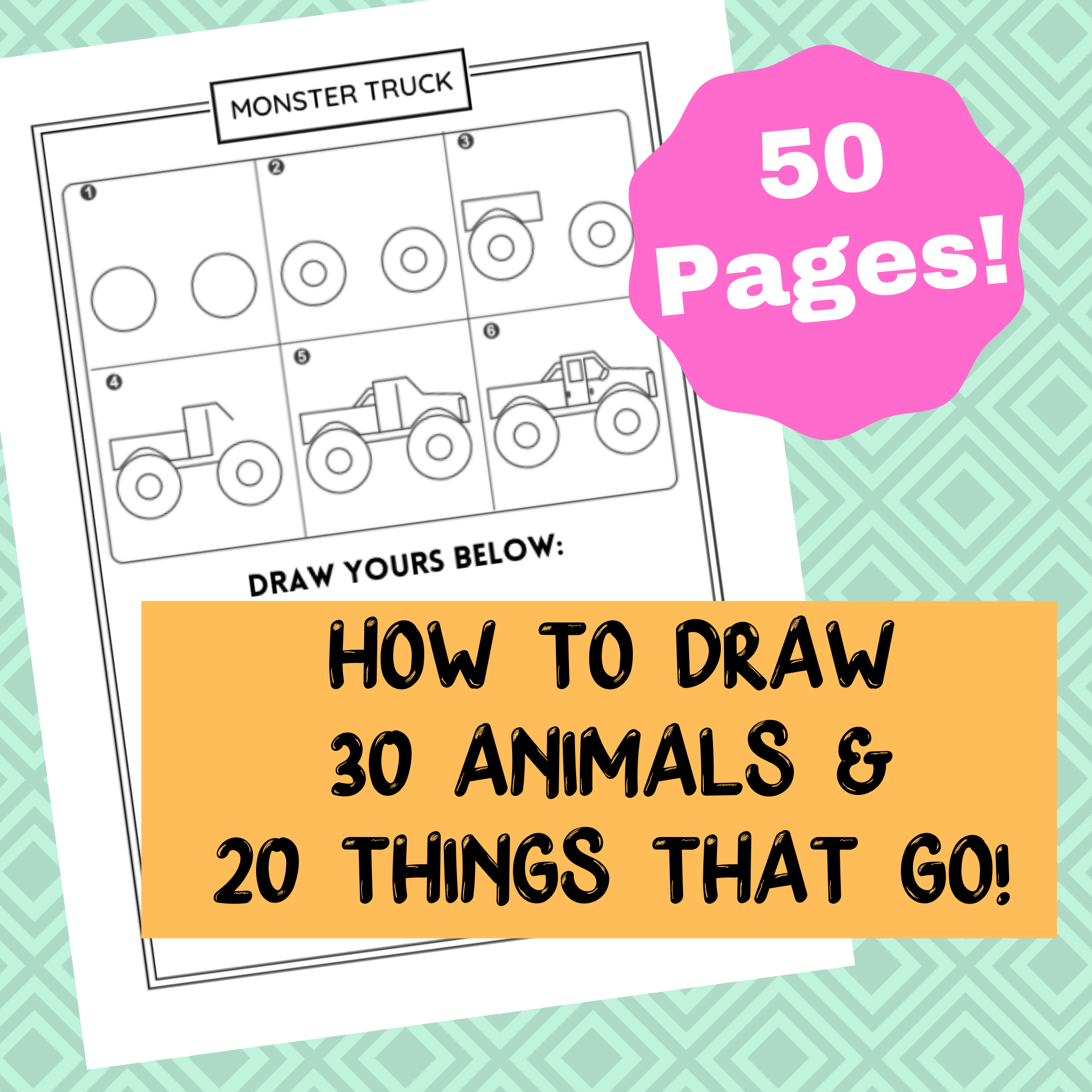 50 Directed Drawing Worksheets for Kids!