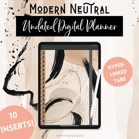 Modern Neutral Digital Planner