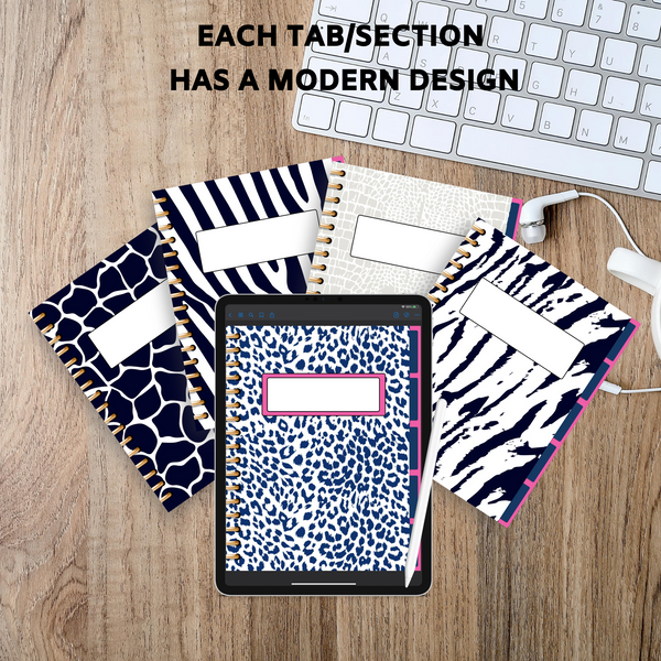 Blue Leopard Digital Notebook
