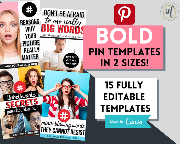 15 Bold Pinterest Templates