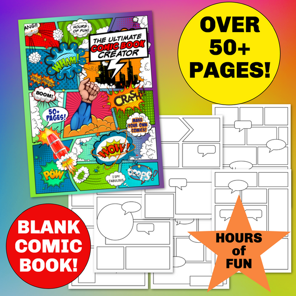 50 Blank Comic Book Pages & a Free Onomatopoeia List!