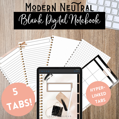 Modern Neutral Digital Notebook