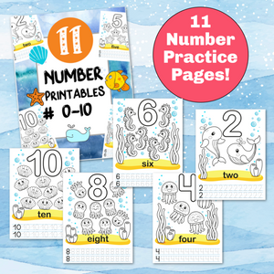 0-10 Number Worksheets for Kids!