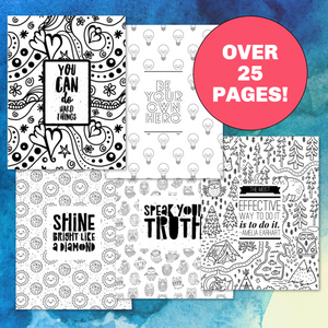 25 Empowering Coloring Pages