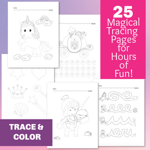 25 Magical Tracing Worksheets