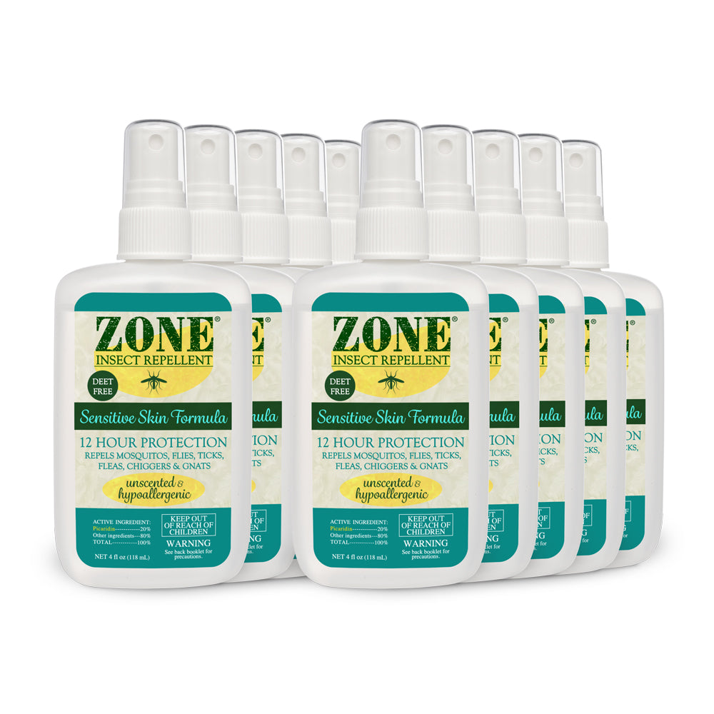 ZONE Insect Repellent - Sensitive Skin (10-Pack Case)