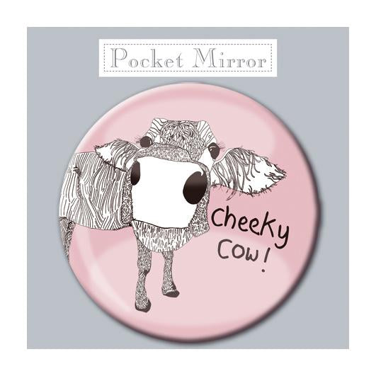 Cheeky Cow! Pocket Mirror