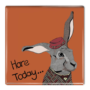 Hare Today - Fridge Magnet
