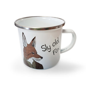 Sly Old Fox - Enamel Mugs