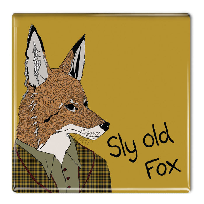 Sly Old Fox - Fridge Magnet