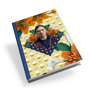 Frida Kahlo Orange Floral Hardback Journal