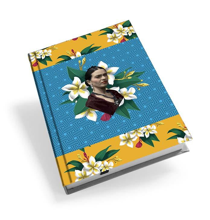 Frida Kahlo Blue Diamond Hardback Journal