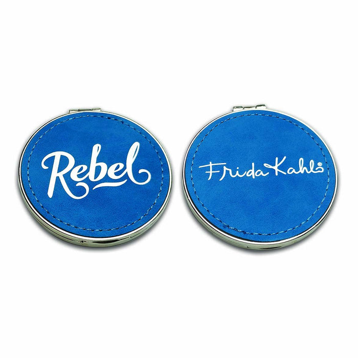 Frida Kahlo Rebel Suede Compact Mirror