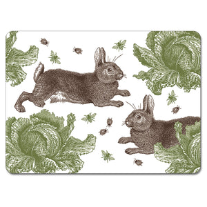 Rabbit and Cabbage Tablemat Set of 4