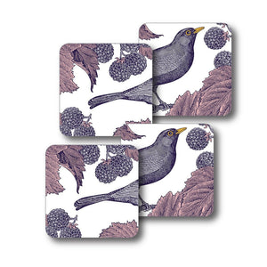 Blackbird and Bramble Coaster Set of 4