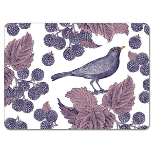 Blackbird and Bramble Tablemat Set of 4
