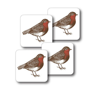 Robin and Holly Coaster Set of 4