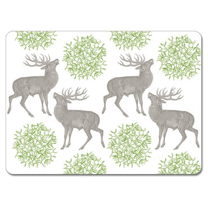 Stag and Mistletoe Tablemat Set of 4