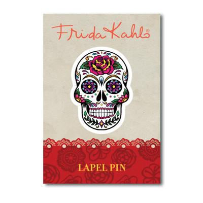 Frida Kahlo Skull Lapel Pin