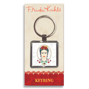 Frida Kahlo Frida Head Metal Keyring