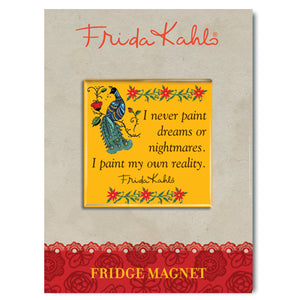 Frida Kahlo Peacock Quote Fridge Magnet