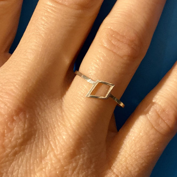 kite ring in sterling silver
