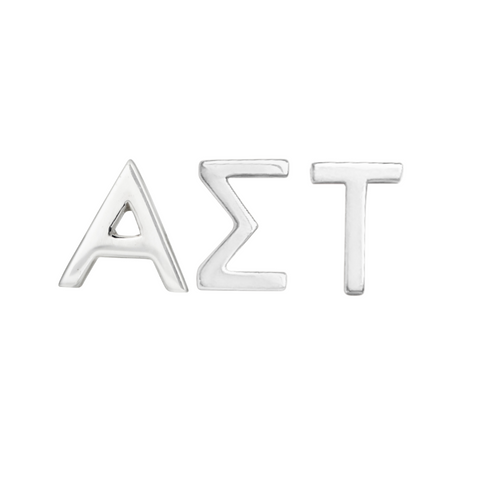 alpha sigma tau earring set in sterling silver