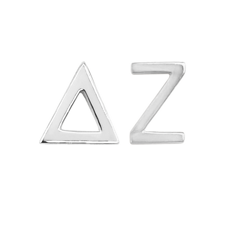 Delta Zeta Earrings in Sterling Silver