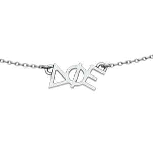 Delta Phi Epsilon Choker Necklace in sterling silver