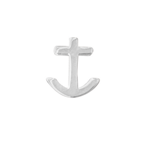 Anchor earring in sterling silver