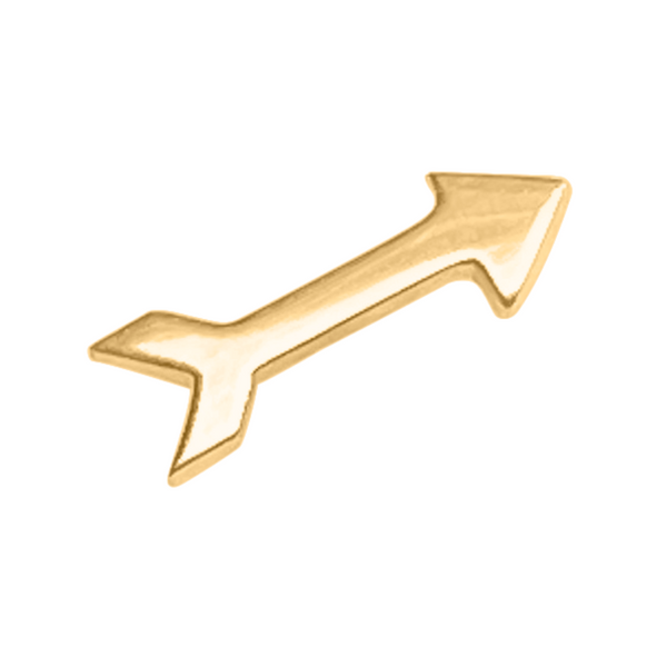 arrow stud earring in 14k Gold
