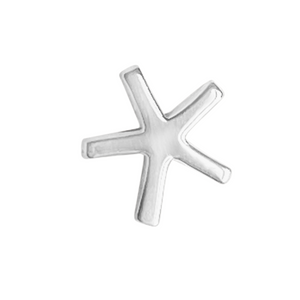 asterisk stud earring in sterling silver