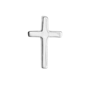 sterling silver cross earring on a white background