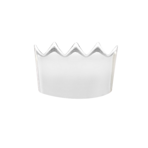 crown earring in sterling silver