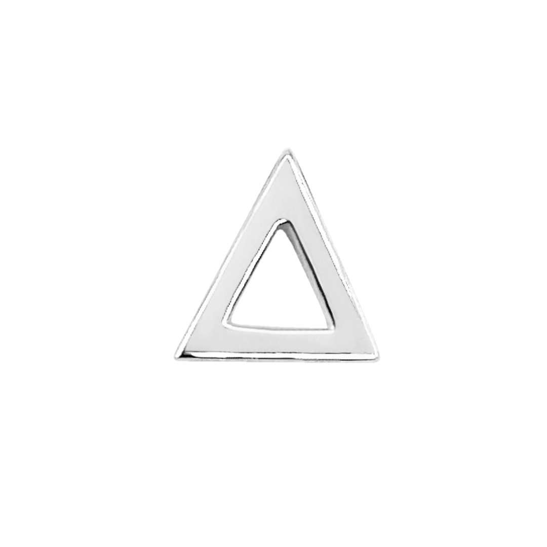 Triangle Stud Earring in Sterling Silver