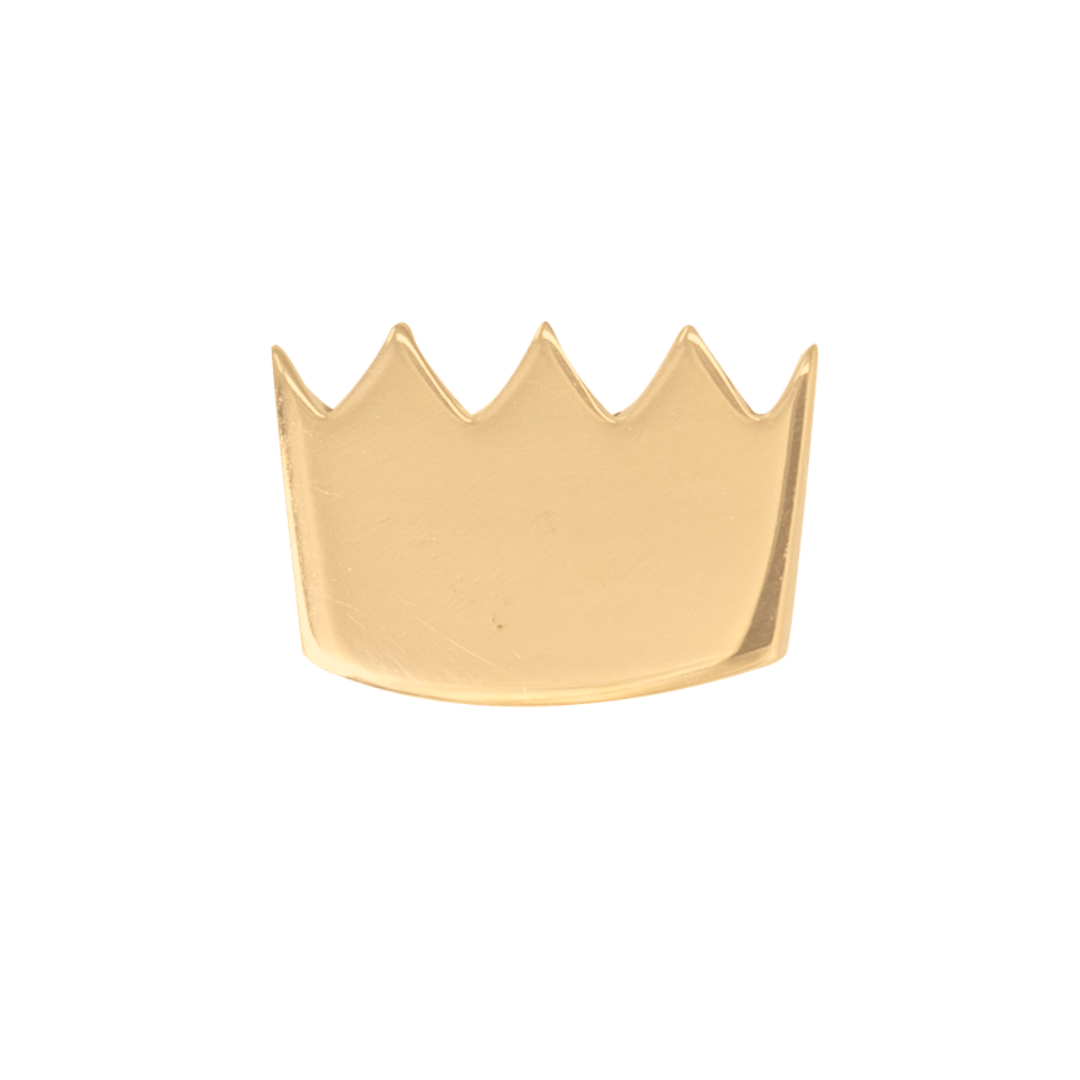 gold crown stud earring