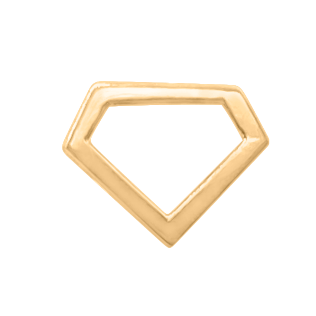 Gold Diamond stud earring