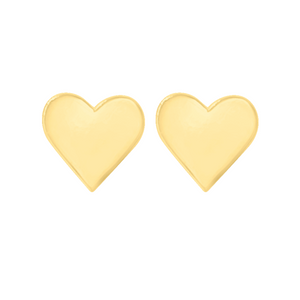 gold heart earring set