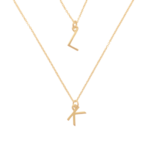 14k Gold Initials Charm Necklaces