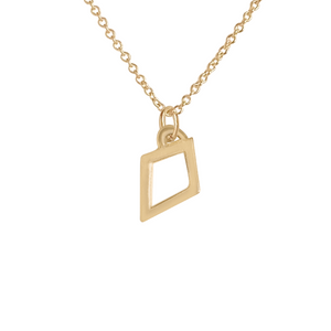 14k gold kite charm necklace