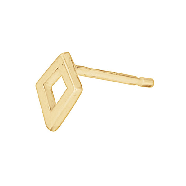 gold kite stud earring
