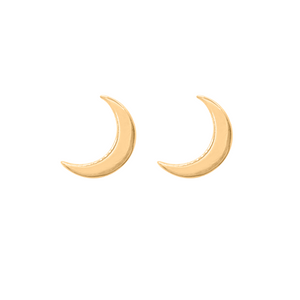 Gold Gamma Phi Crescent Moon Earrings