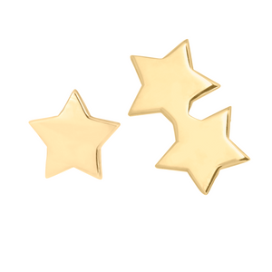 gold stars earring set