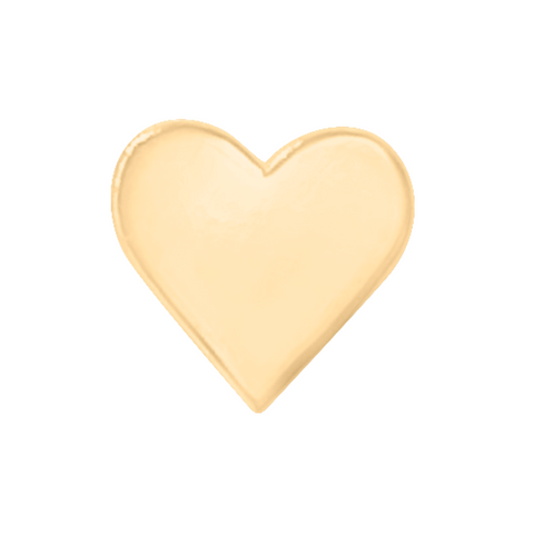 heart earring in 14k gold