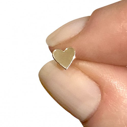heart stud earring in 14k yellow gold