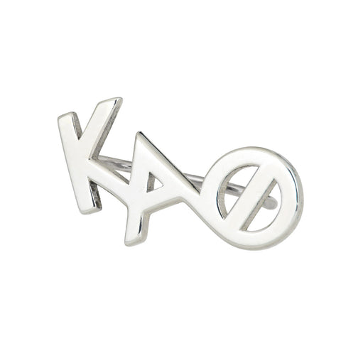 Kappa Alpha Theta sorority climber earring in Sterling Silver