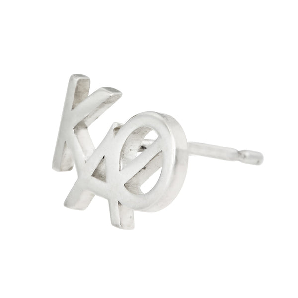 Kappa Alpha Theta sorority monogram stud earring in sterling silver